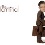 snowden at the terminal  - like the movie